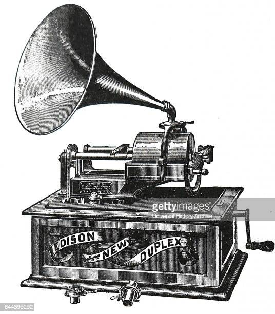 Edison New Single Horn Duplex Phonograph 1876