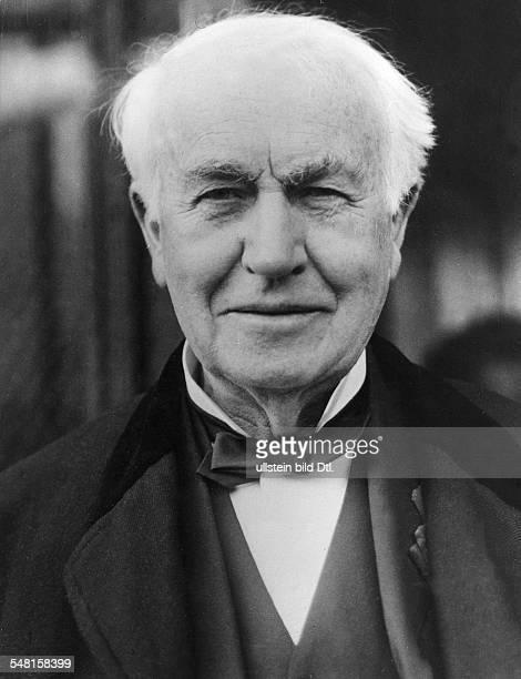 Edison Thomas Alva *11021847 Erfinder Unternehmer USA Entwickelte 1879 die Gluehlampe Portrait undatiert