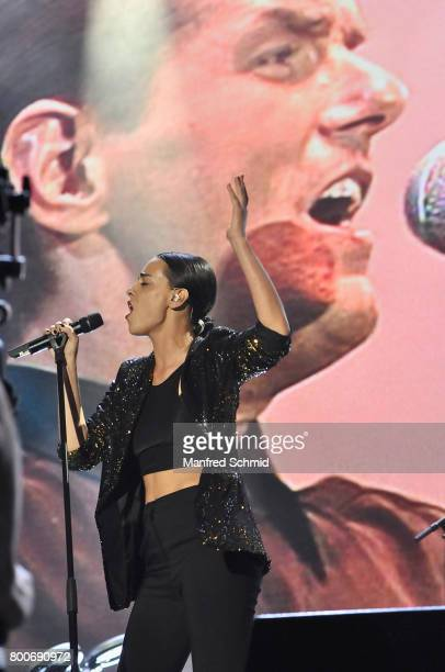 Edita Malovcic performs on stage a 'Falco Tribute' during the Day 2 at Donauinselfest 2017 at Donauinsel on June 24 2017 in Vienna Austria