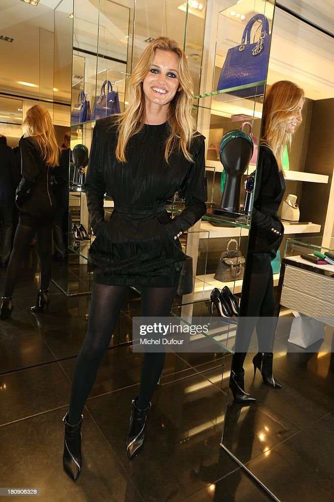 Edita Vilkeviciute attends the Vogue Fashion Night In Paris at Dior rue Royale on September 17, 2013 in Paris, France.