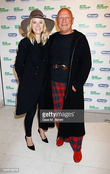 Edith Bowman and actor Steven Berkoff attend the Macmillan De'Longhi Art Auction 2010 in aid of Macmillan Cancer Support at Avenue on September 28...