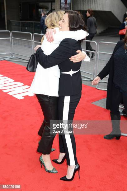 Edith Bowman and actress Vicky McClure attend the 'Jawbone' UK premiere at BFI Southbank on May 8 2017 in London United Kingdom
