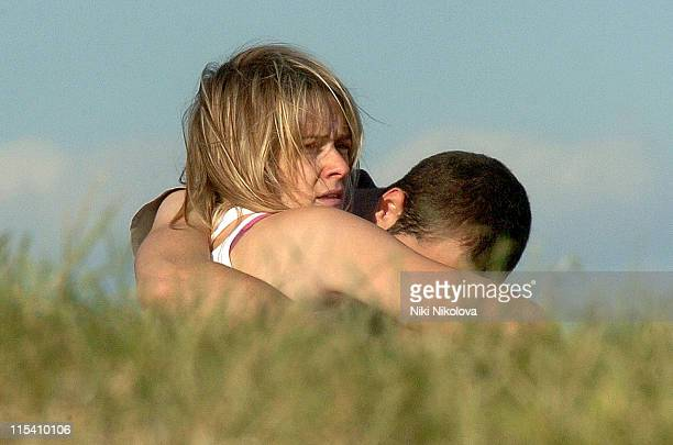 Edith Bowman and boyfriend during Edith Bowman Sighting on Primrose Hill July 23 2005 at Primrose Hill in London Great Britain
