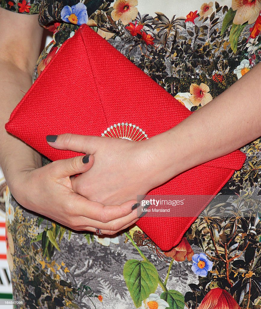 Edith Bowman (handbag clutch detail) attends the 18th Jameson Empire Film Awards at Grosvenor House, on March 24, 2013 in London, England.