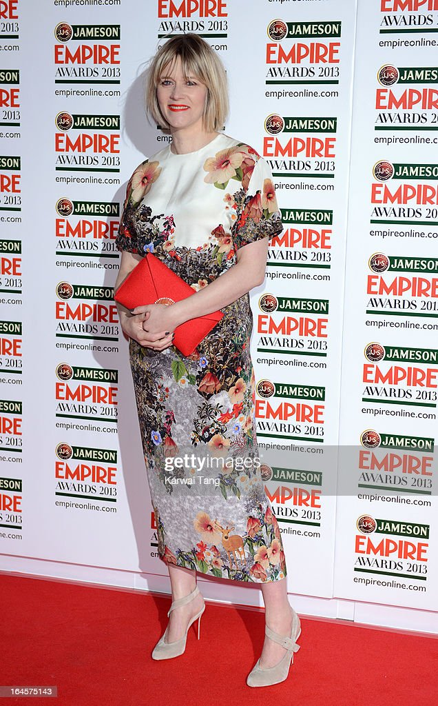 Edith Bowman attends the 18th Jameson Empire Film Awards at Grosvenor House, on March 24, 2013 in London, England.