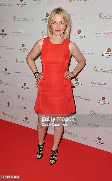 Edith Bowman attends the British Airways Silent Picturehouse launch at Vinopolis on July 22 2013 in London EnglandThe popup film event shows movies...