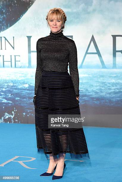 Edith Bowman attends the European Premiere of 'In The Heart Of The Sea' at Empire Leicester Square on December 2 2015 in London England