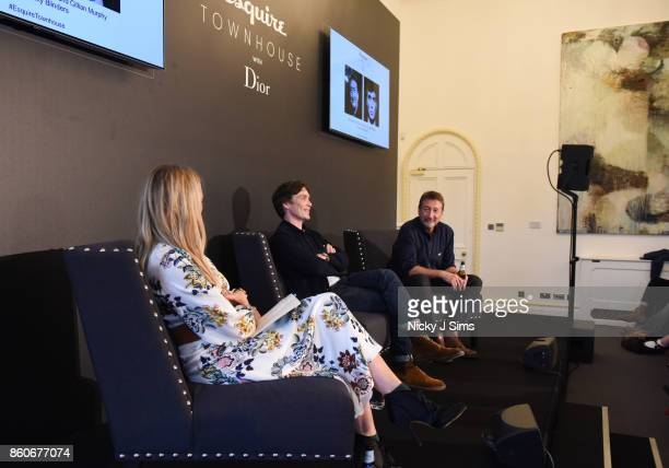 Edith Bowman Cillian Murphy and Steven Knight during an An Evening with Steven Knight and Cillian Murphy from Peaky Blinders at Esquire Townhouse...