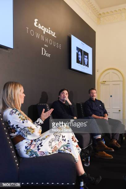 Edith Bowman Cillian Murphy Steven Knight during an An Evening with Steven Knight and Cillian Murphy from Peaky Blinders at Esquire Townhouse with...