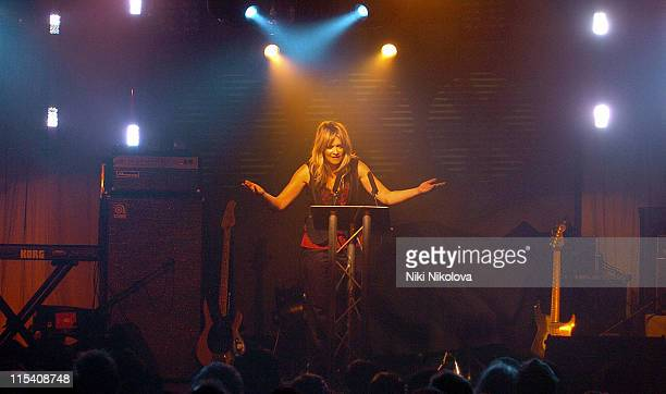 Edith Bowman during 2005 Diesel U Music Awards at Kings Cross Goods Yard in London Great Britain