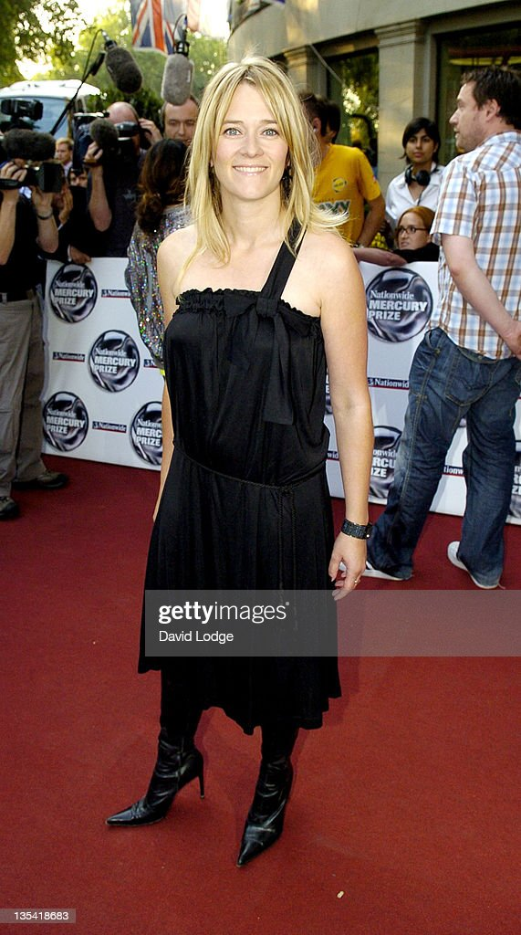 Edith Bowman during 2005 Nationwide Mercury Music Prize at Grosvenor House in London, Great Britain.