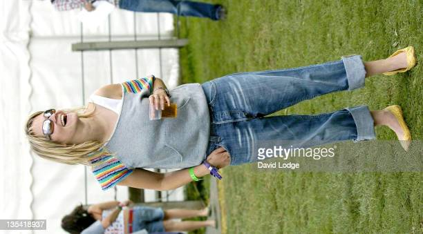 Edith Bowman during V Festival 2004 Chelmsford Day 1 Celebrity Sightings at Hylands Park in Chelmsford Great Britain