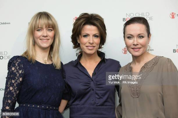 Edith Bowman Natasha Kaplinsky and Amanda Mealing during the launch of aid agency Save the Children's No Child Born to Die campaign at the Lincoln...