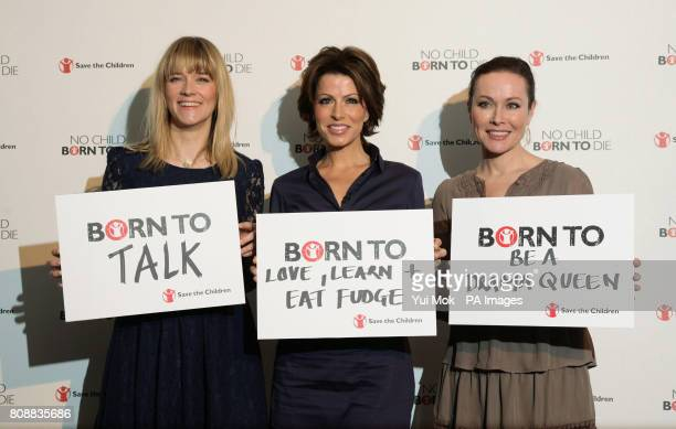 Edith Bowman Natasha Kaplinsky and Amanda Mealing during the launch of aid agency Save the Childrens No Child Born to Die campaign at the Lincoln...