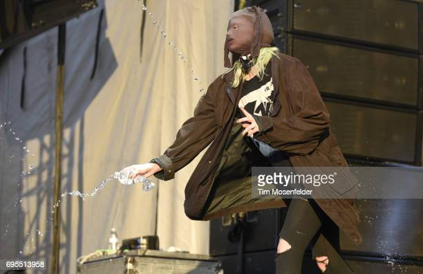 Edith Frances of Crystal Castles performs during the 2017 Bonnaroo Arts and Music Festival on June 11 2017 in Manchester Tennessee