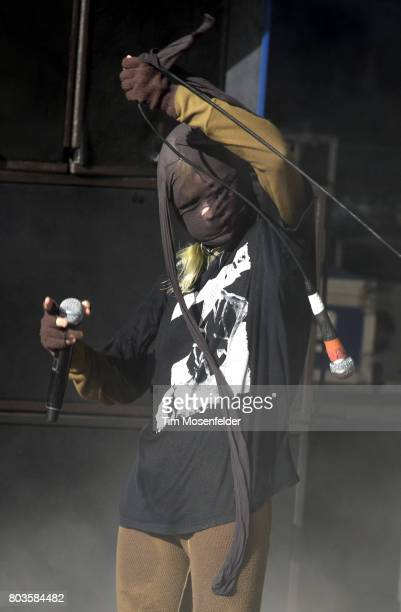 Edith Frances of Crystal Castles performs during the ID10T Festival at Shoreline Amphitheatre on June 25 2017 in Mountain View California