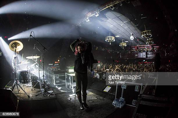 Edith Frances of Crystal Castles performs on stage at sala Apolo on December 10 2016 in Barcelona Spain