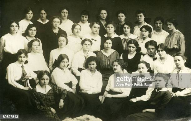 Edith FrankHollander the mother of Anne Frank in her class at school circa 1916