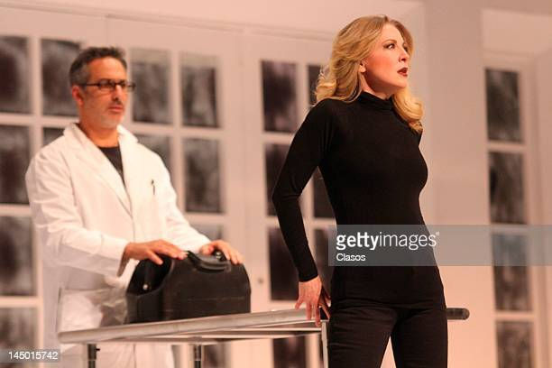 Edith Gonzalez and Julio Bracho performs during play Purgatorio starring Edith Gonzalez and Julio Bracho at Diana Theater on May 21 2012 in...