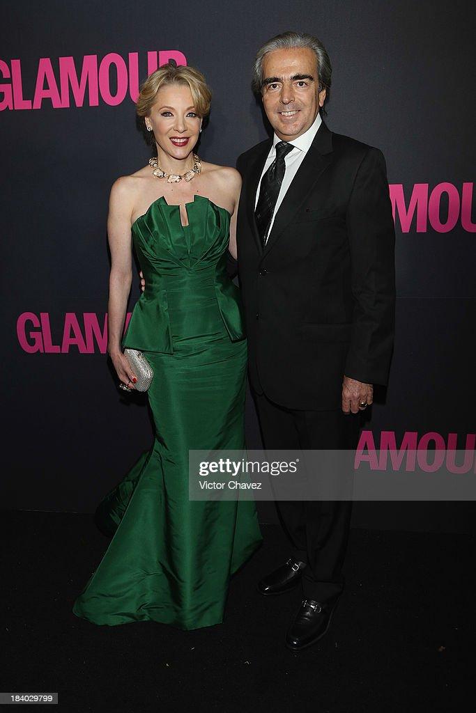 Edith Gonzalez and Lorenzo Lazo attend the Glamour Magazine 15th Anniversary at Casino Del Bosque on October 10, 2013 in Mexico City, Mexico.