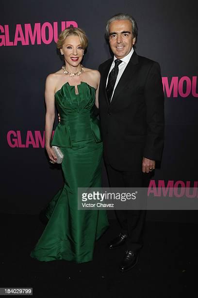 Edith Gonzalez and Lorenzo Lazo attend the Glamour Magazine 15th Anniversary at Casino Del Bosque on October 10 2013 in Mexico City Mexico