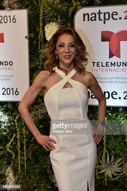 Edith Gonzalez attends Telemundo NATPE party on January 19 2016 in Miami Beach Florida