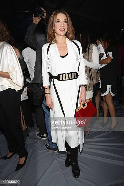 Edith Gonzalez attends the third day of MercedesBenz Fashion Week Mexico Spring/Summer 2016 at Campo Marte on October 15 2015 in Mexico City Mexico
