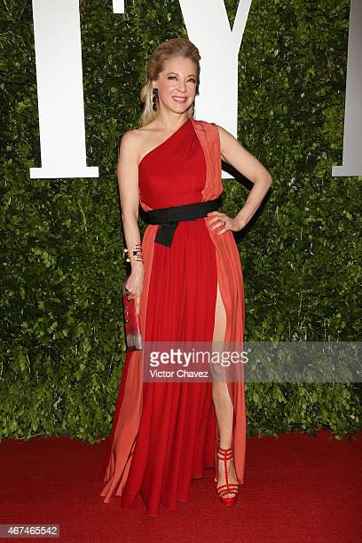 Edith Gonzalez attends the Vanity Fair México magazine launch at Casa Del Lago on March 24 2015 in Mexico City Mexico