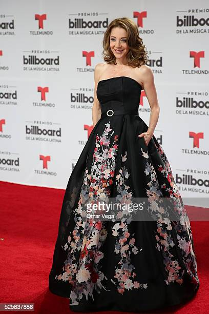 Edith Gonzalez poses during the red carpet of Billboard Latin Music Awards 2016 at Bank United Center on April 28 2016 in Miami United States