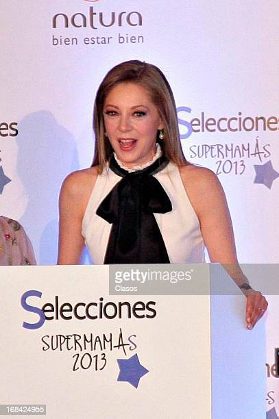 Edith Gonzalez speaks during the Supermamas Awards 2013 on April 09 2013 in Mexico City Mexico