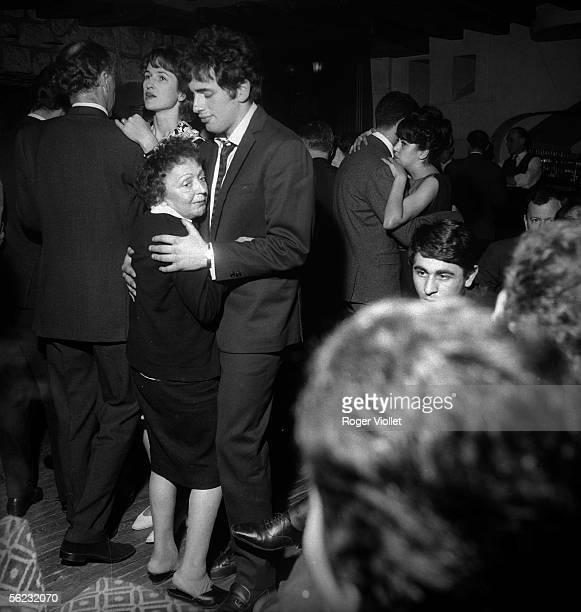 Edith Piaf and Theo Sarapo Paris Club SaintHilaire 1962 HA13997