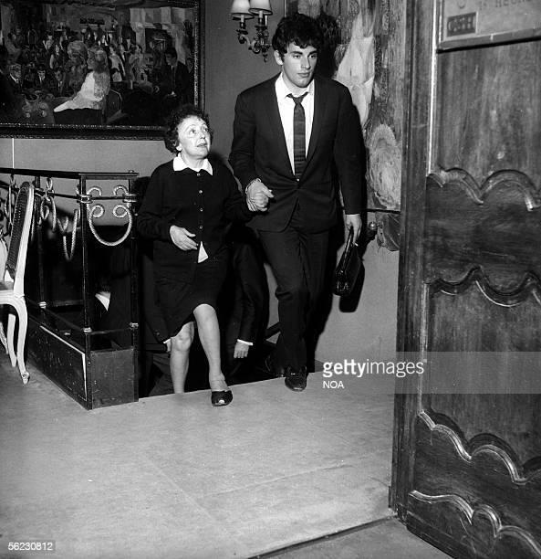 Edith Piaf and Theo Sarapo Paris SaintHilaire Club 1962 HA12093