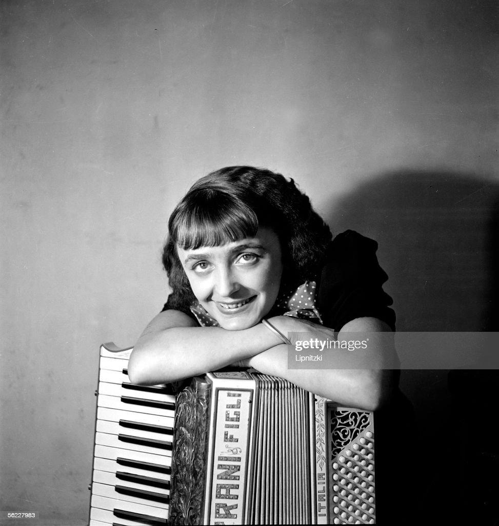 Edith Piaf (1915-1963), French singer, in 1936.