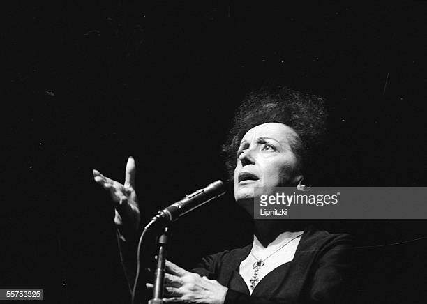 Edith Piaf French singer Paris Olympia in January 1961