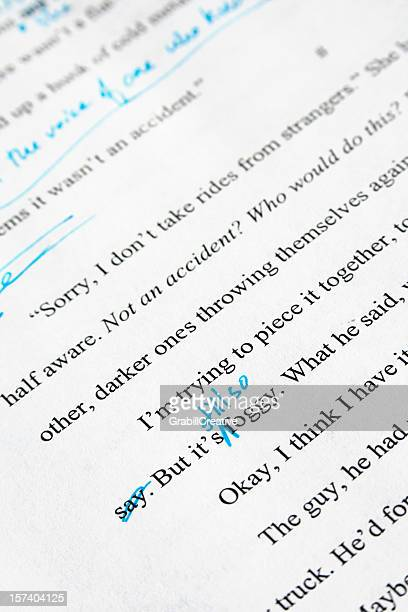 Editing of a Mystery Novel: Text with Copyedits