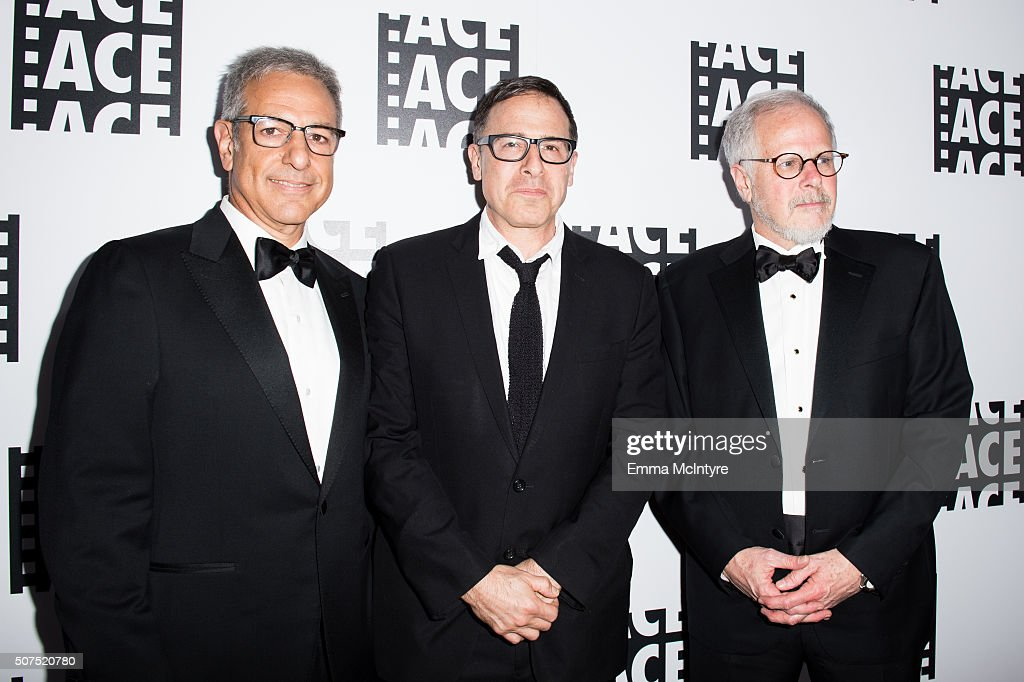 Editor Alan Baumgarten director David O Russell and editor Jay Cassidy attend the 66th Annual ACE Eddie Awards at The Beverly Hilton Hotel on January...