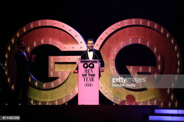 Editor and Chief Nick Smith speaks during the GQ Men Of The Year Awards Ceremony at The Star on November 15 2017 in Sydney Australia
