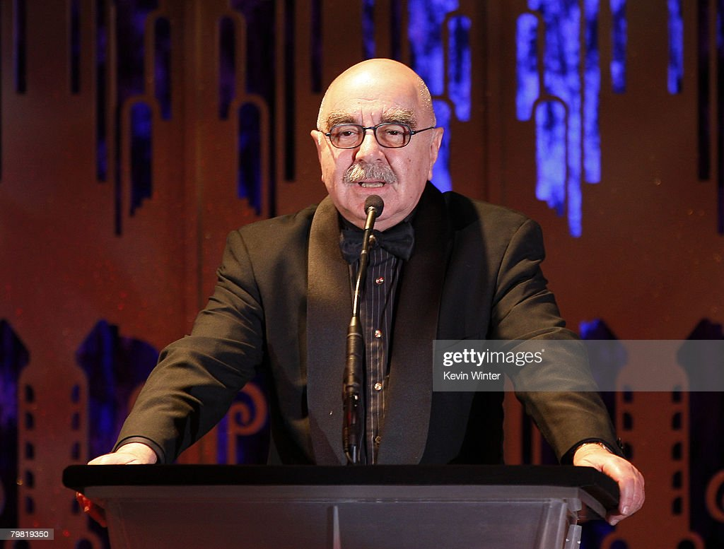 Editor and President of ACE Alan Heim appears onstage at the 58th Annual ACE Eddie Awards at the Beverly Hilton Hotel on February 17 2008 in Beverly...