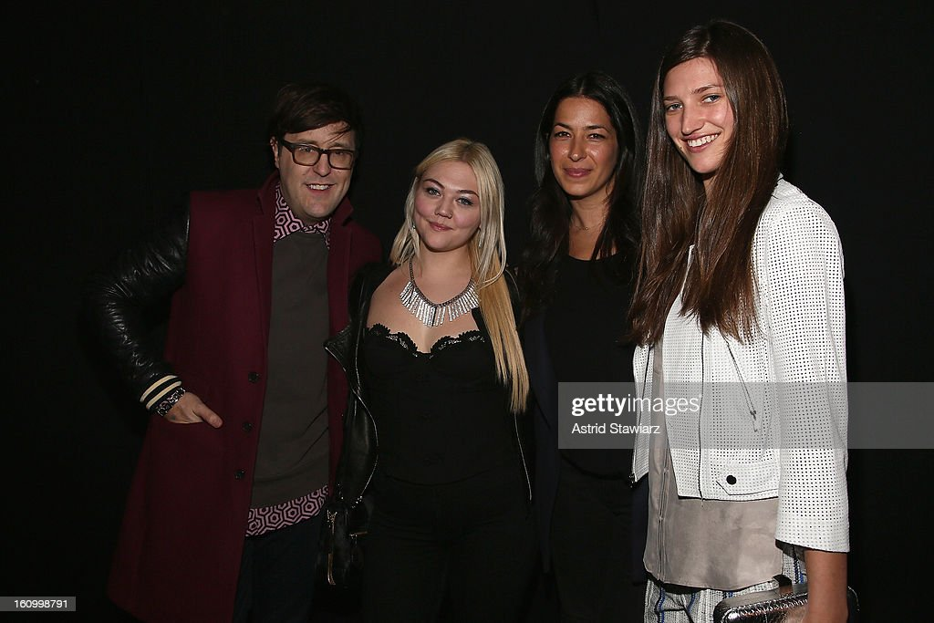 Editor <a gi-track='captionPersonalityLinkClicked' href=/galleries/search?phrase=Andrew+Bevan&family=editorial&specificpeople=4862795 ng-click='$event.stopPropagation()'>Andrew Bevan</a>, singer Elle King, designer Rebecca Minkoff and guest pose backstage at the TRESemme At Rebecca Minkoff Fall 2013 fashion show during Mercedes-Benz Fashion Week at The Theatre at Lincoln Center on February 8, 2013 in New York City.