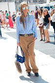 Editor At Large and creative consultant for Vogue Japan Anna dello Russo wears all Gucci with Dior sunglasses and Loewe bag on day 2 of Paris Fashion...