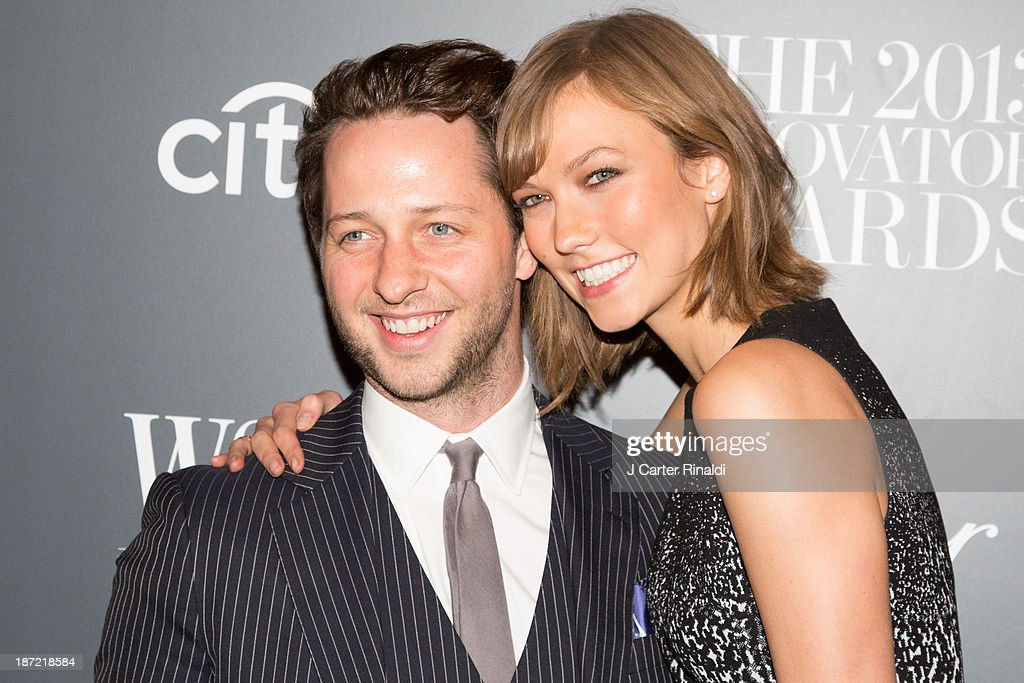 Editor at Large for Harper's Bazaar, <a gi-track='captionPersonalityLinkClicked' href=/galleries/search?phrase=Derek+Blasberg&family=editorial&specificpeople=856710 ng-click='$event.stopPropagation()'>Derek Blasberg</a> and model <a gi-track='captionPersonalityLinkClicked' href=/galleries/search?phrase=Karlie+Kloss&family=editorial&specificpeople=5555876 ng-click='$event.stopPropagation()'>Karlie Kloss</a> attends the WSJ. Magazine's 'Innovator Of The Year' Awards 2013 at The Museum of Modern Art on November 6, 2013 in New York City.