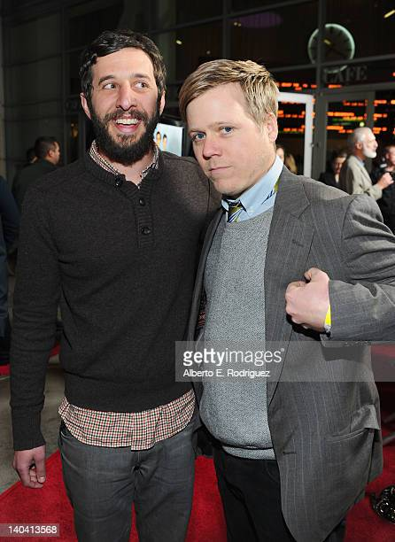 Editor Ben Berman and editor Doug Lussenhop arrives to 'Tim And Eric'$ Billion Dollar Movie' Los Angeles Premiere at ArcLight Hollywood on March 1...