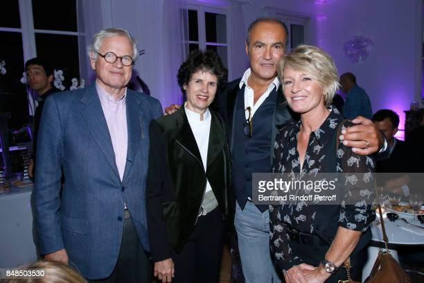 Editor Bernard Fixot his wife ValerieAnne Giscard d'Estaing lawyer Roland Perez and journalist Sophie Davant attend the Dinner after Sylvie Vartan...