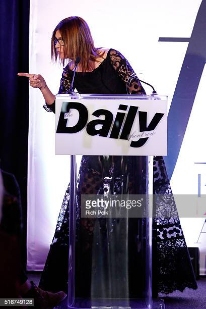 COVERAGE Editor Carine Roitfeld accepts Magazine of the Year award for CR Fashion Book onstage during The Daily Front Row 'Fashion Los Angeles...