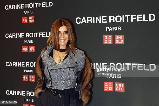 Editor Carine Roitfeld attends the UNIQLO Fall/Winter 2016 Carine Roitfeld Collection launch at UNIQLO on October 26 2016 in New York City