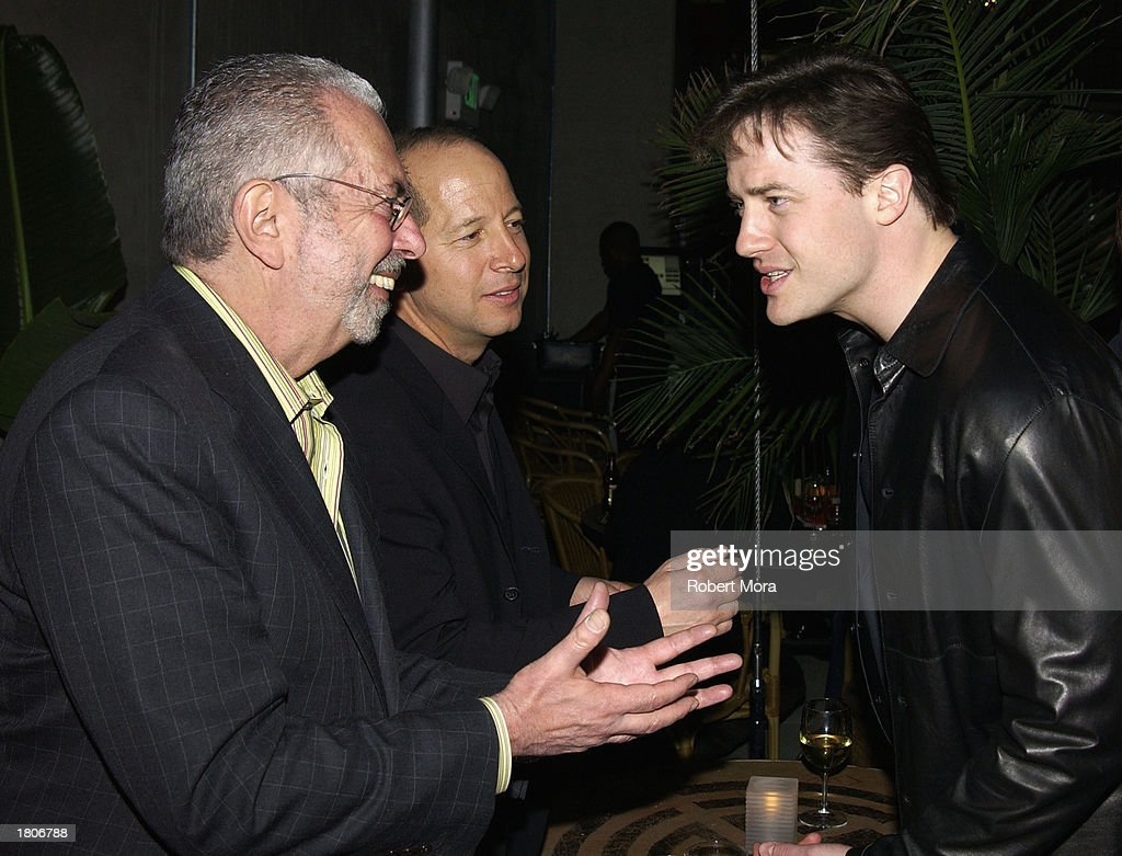 Editor & Chief of GQ Magazine Art Cooper, Vice President of GQ Magazine Ron Galotti, Actor Brendan Frasier attend the unveiling of GQ Magazine's Hollywood Issue at the GQ Lounge at White Lotus on February 20, 2003 in Hollywood, California. The party was the official kick-off to the GQ Lounge, a GQ designed nightclub that brings the pages of the magazine to life for one week.
