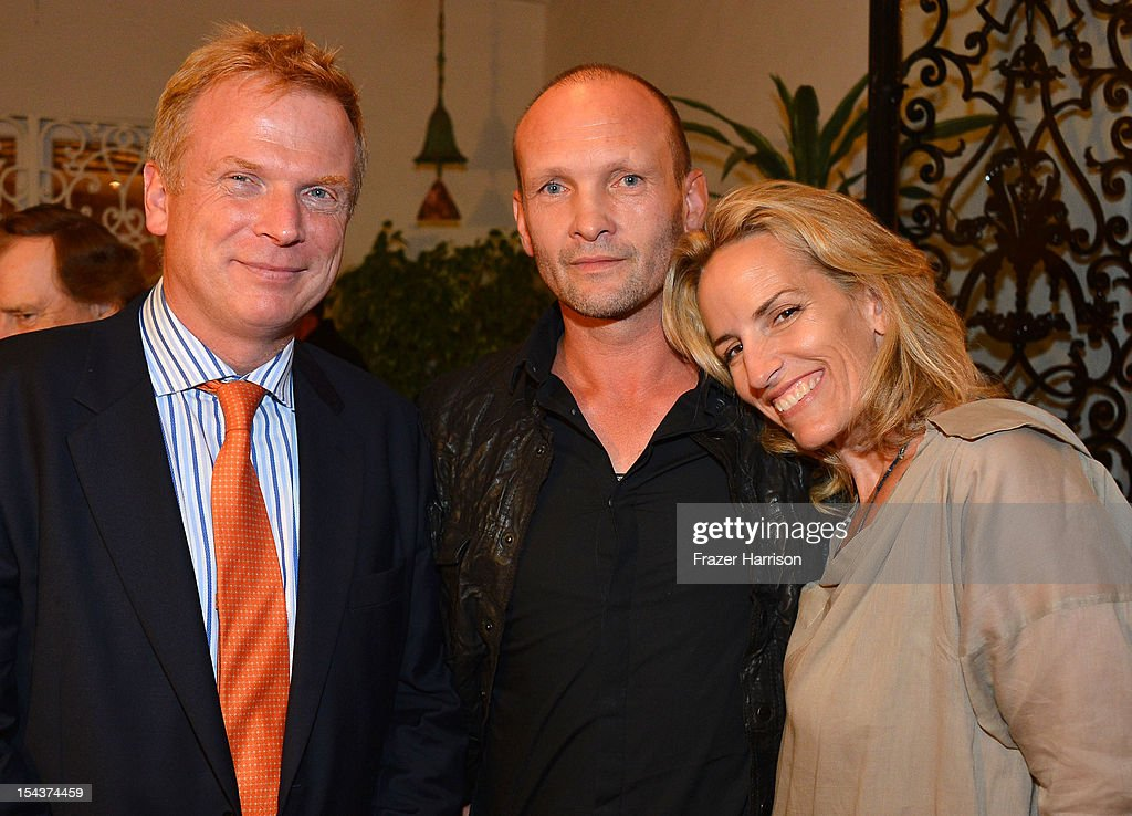 Editor Chris Williams, actor Andrew Howard and Sarah Essex attend Wales Celebrates the launch of 'The Richard Burton Diaries' hosted by The Welsh Government, Swansea University and Yale University Press held at the British Consul-General residence, Hancock Park on October 18, 2012 in Los Angeles, California.