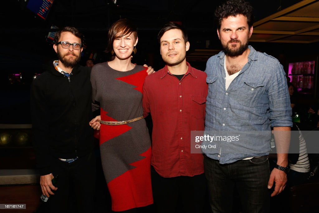 Editor Christopher K. Walker, filmmaker Deidre Schoo, filmmaker Michael Beach Nichols, and actor Jeff Takacs attend the SAG/Indie Party during the 2013 Tribeca Film Festival on April 21, 2013 in New York City.