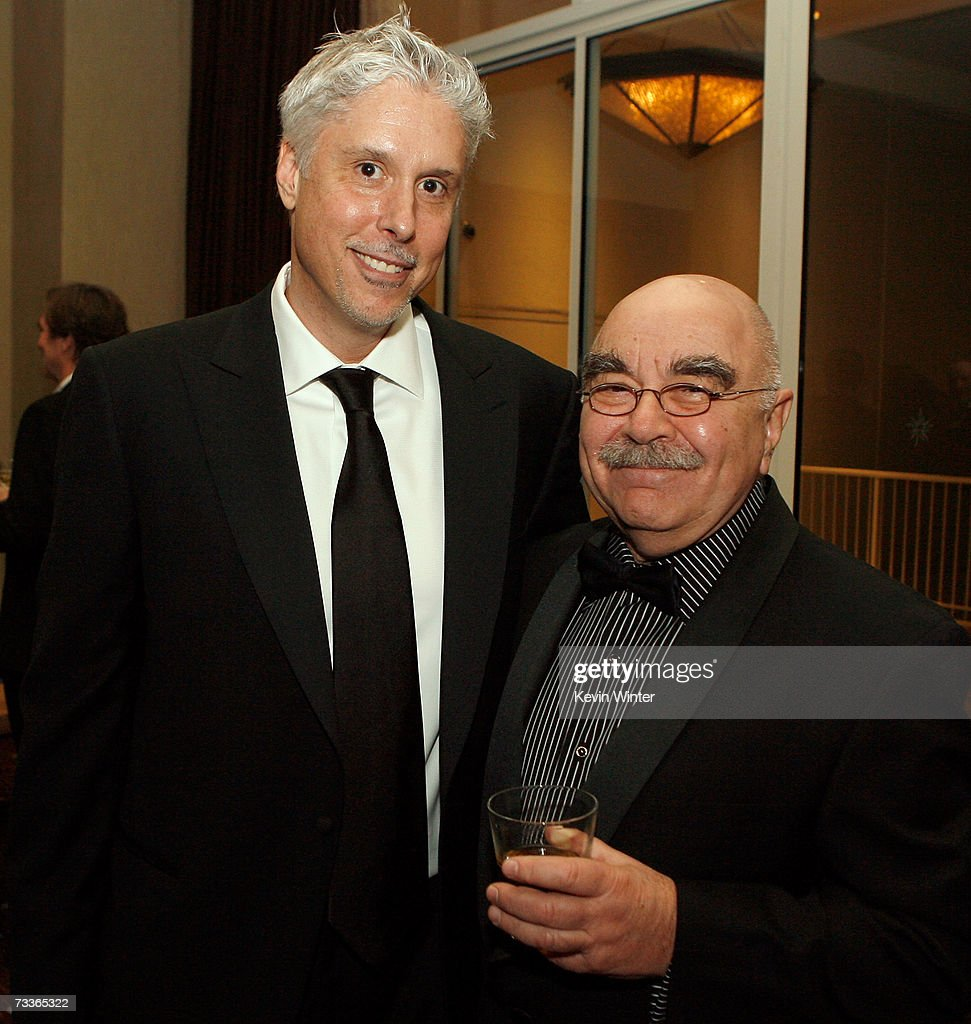 Editor Christopher Rouse and American Cinema Editors President Alan Heim attend the 57th annual ACE Eddie Awards cocktail reception held at the...
