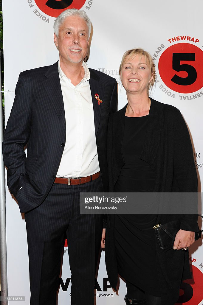 Editor <a gi-track='captionPersonalityLinkClicked' href=/galleries/search?phrase=Christopher+Rouse&family=editorial&specificpeople=4159557 ng-click='$event.stopPropagation()'>Christopher Rouse</a> and Anne Hoeller attend TheWrap.com annual Pre-Oscar party at Culina Restaurant at the Four Seasons Los Angeles on February 26, 2014 in Beverly Hills, California.